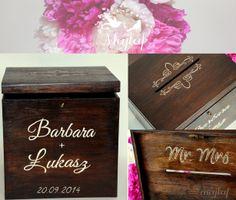 wedding card box made by majlaf! Pudełko na koperty:) More : https://www.facebook.com/MAJLAF.DIY