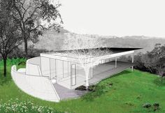 The pavilion was designed around concepts of privacy, safety, and refuge.