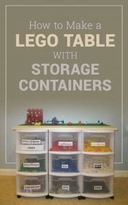 Here's a quick way to construct a Lego table with storage containers to help you organize your collection of Legos #lego #organization #declutter #diy