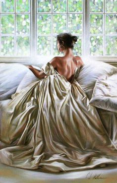 Rob Hefferan Painting. ALL ABOUT THE GOWN IN ART -- new Theme