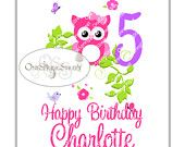 Owl Birthday Party, Printable Iron on Transfer for T-shirts!