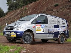 Mercedes Vito rally raid van