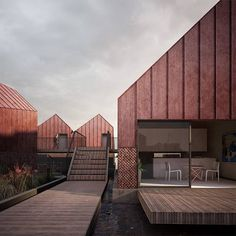 """😍 Duggan Morris Architects ( : """"Emerging concept for a 'Floating Village'. Hotel Architecture, Architecture Design, Duggan Morris, Village Hotel, Backyard Office, Ludwig Mies Van Der Rohe, Cottage, Outdoor Decor, Instagram"""
