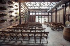 Wedding guests will be seated for your ceremony in Brooklyn Winery's gorgeous, airy Atrium.