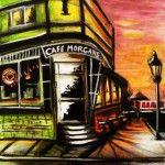 Café Morgane 6:42am, Acrylique, 16X20'', 2011 VENDU