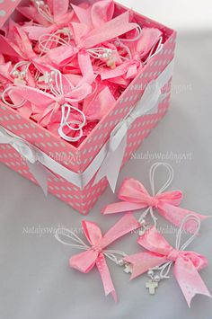 150 pcs 2 in 1 Martirika ( Martyrika ) Pink  Witness pins - Witness bracelets Greek Orthodox Baptism by NatalysWeddingArt