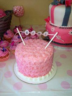 Smash cake 1st birthday girl