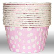 Dot Light Pink Portion Cups - $4 per 20 pack