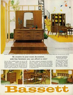 Amazing 1965 Home Decor U0026 Furnishings Ad, Bassett Furniture