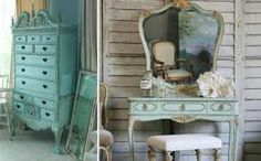 Rusted dreesing table in turquoise colour-amazing!!!