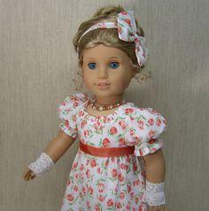 REGENCY ~Jane Austen Era~ 5 pc Dress Set American Girl Caroline by idreamofjeannemarie via eBay
