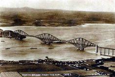 Vintage Postcard, Aerial View, Forth Bridge