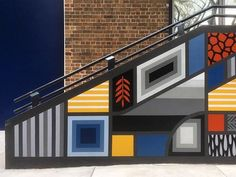 Staircase section of new commission mural at the International Grammar School in Sydney - #beastman #bradeastman