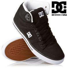DC SHOES men's SPARTAN HI WC TX HIGH trainers BLACK WHITE skate new | eBay