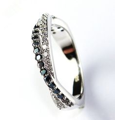 White 5 off Black Crystal Rings for Women 925 Sterling Silver Jewelry White CZ Diamond Men Ring for Wedding Love Gift Ulove Gothic Engagement Ring, Cheap Engagement Rings, Diamond Wedding Rings, Wedding Ring Bands, Diamond Rings, Wedding Jewelry, Gothic Rings, Wholesale Silver Jewelry, Jewelry Tattoo