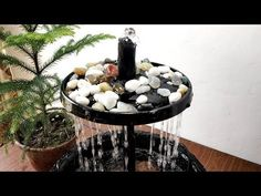 How to make beautiful rain forest waterfall fountain very easy - YouTube