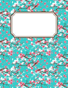 Free Printable Cherry Blossom Binder Cover Template The In Jpg Or Pdf Format