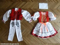 DETSKÉ ĽUDOVÉ KROJE Doll Clothes Patterns, Clothing Patterns, Traditional Outfits, Cheer Skirts, Apron, Bohemian, Costumes, European Countries, Czech Republic
