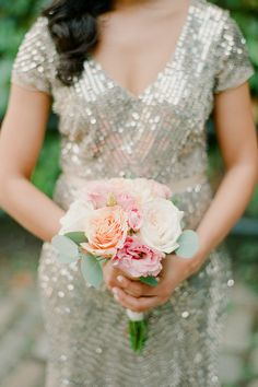 Blush and peach wedding bouquet: Photography: Brklyn View Photography - www.brklynview.com Read More on SMP: http://www.stylemepretty.com/2017/03/08//