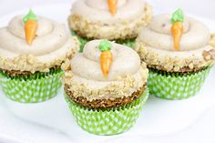 The Easter Bunny stopped by with a batch of these tasty Carrot Cake Cupcakes. Topped with brown sugar cream cheese frosting, these cupcakes will be a huge hit in your house!
