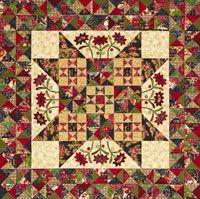 Midnight Blooms Quilt, free pattern for this Kim Diehl quilt