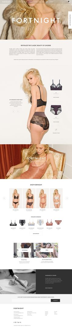 Fortnight Lingerie on Web Design Served