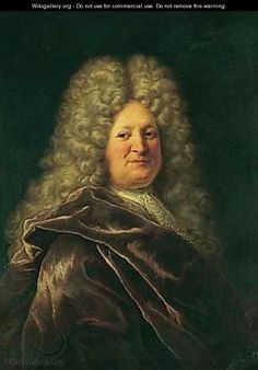 Gentleman in a No. 4 Big Wig! Portrait of a gentleman 4 - (after) Hyacinthe Rigaud. First decade 18thC.