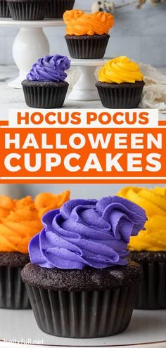 Halloween Cupcakes Easy, Easy Halloween, Halloween Parties, Cupcake Frosting, Buttercream Frosting, Cupcake Cakes, Easy Delicious Recipes, Sweet Recipes, Tasty