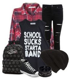 """start a band"" by polyvoreteenz on Polyvore featuring Miss Selfridge, Phase 3, Vans, Converse and Replay"