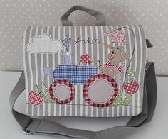 Kindergartentaschen - Kindergartenrucksack/ Kindergartentasche Traktor - ein Designerstück von Feinerlei bei DaWanda
