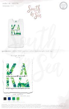 South by Sea | Greek Tee Shirts | Greek Tank Tops | Custom Apparel Design | Custom Greek Apparel | Sorority Tee Shirts | Sorority Tanks | Sorority Shirt Designs | Sorority Shirts | TShirts | Sorority T-Shirts | Classic | Custom Greek TShirts | Greek Life | Sorority Clothes | Sorority T-Shirt Ideas | Custom Designs | Custom | Custom Greek | Sorority | Custom Printed T-Shirts | Recruitment | Tropical | Beachy | Palm Leaves | Floral
