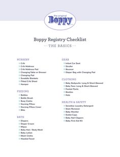 Baby Must Haves Registry Checklist for first time moms.