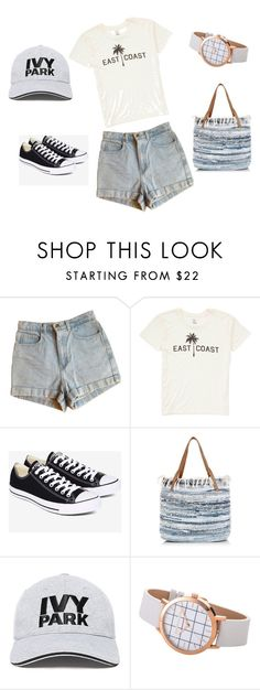 """""""Jeans shorts - styling for a casual personality ."""" by monicazelin on Polyvore featuring American Apparel, Billabong, Converse, New Look and Ivy Park"""
