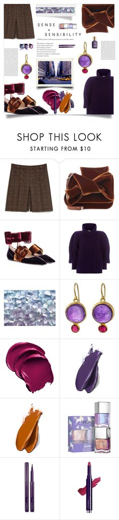 """streetstyle"" by ztugceuslu ❤ liked on Polyvore featuring Mulberry, N°21, Attico, Temperley London, Komar, Judy Geib, Balmain, By Terry, Wet n Wild and Estée Lauder"