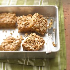 Cashew Crunch Bars  These salty-sweet cookies feature creamy vanilla caramel and dry-roasted cashews.