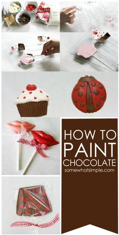 How to paint with chocolate - clever + easy!