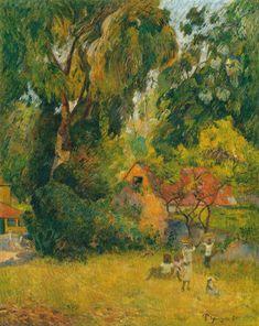 Huttes Sous Les Arbres: Paul Gauguin.