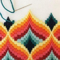 El blog de Dmc: Bargello, la tapicería está de moda
