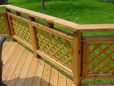 Lattice Panel Deck Railing Deck Railing Designs Salter
