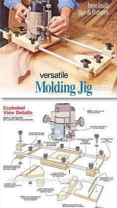 Molding Jig - Furniture Molding Construction Techniques | http://WoodArchivist.com