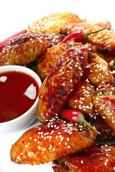 One-Pot Chicken Recipe: Korean Fried Wings.  Make it low carb with sugar free honey flavored syrup.