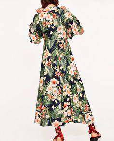 Image 5 of LONG FLORAL PRINT SHIRT DRESS from Zara