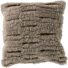 Charming Cut Out Taupe/Gold Pillow