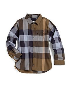 Burberry Little Boy's Mini Hadley Woven Check Shirt