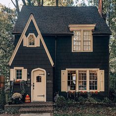 What a gorgeous little fairytale home! Cute House, House Goals, Cottage Homes, Autumn Home, Autumn Fall, Architecture, My Dream Home, Old Houses, Exterior Design