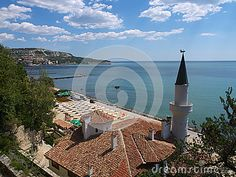 Balchik - Black Sea coastal town in northern Bulgaria. The Balchik Palace was the  summer residence of Queen Marie of Romania