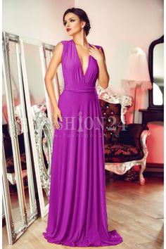 Este o rochie de ocazie eleganta, intr-o culoare superba de mov, care poate fi purtata la orice petrecere sau eveniment important din viata ta. Rochii Fashion24 Light Purple, One Shoulder, Orice, Formal Dresses, Diy, Fashion, Dresses For Formal, Moda, Formal Gowns