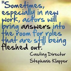 Remember: Your audition could be a huge inspiration! #acting #actorslife #actinginspiration #auditions