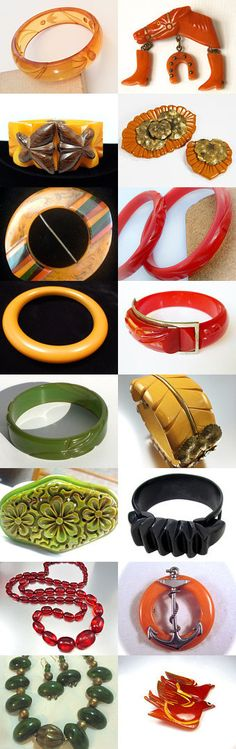 Bakelite For Vintage Vogue's Birthday Vogueteam by Gena Lightle on Etsy--Pinned with TreasuryPin.com