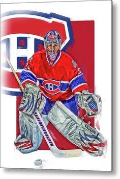 Carey Price Metal Print featuring the mixed media Carey Price Montreal Canadiens Oil Art by Joe Hamilton